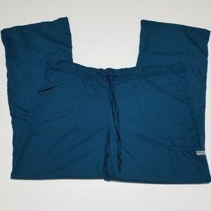 Grey's Anatomy Teal/Blue Pant Scrubs with Logo